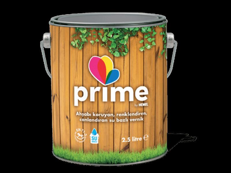 Prime Su Bazlı Ahşap Verniği Çam 2,5lt