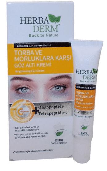 Herbaderm Göz Altı Torba ve Morluk Karşıtı Göz Altı Kremi 15 ml