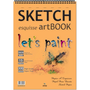 Sketch Kraft Eskiz Defteri 17*24 cm 25 Yaprak Art Book