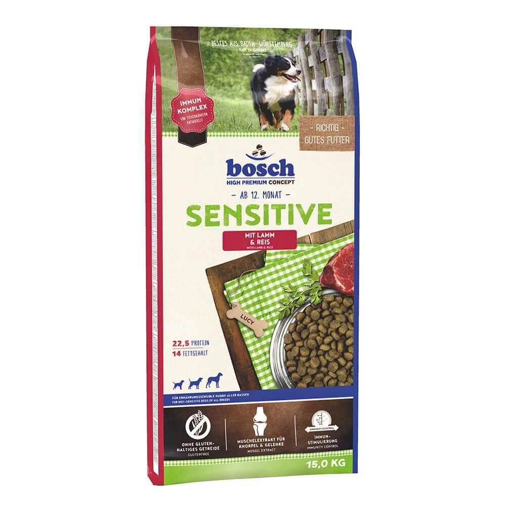 Bosch Adult Sensitive Kuzu Etli Deri Hassasiyeti İçin Köpek Maması 15 Kg