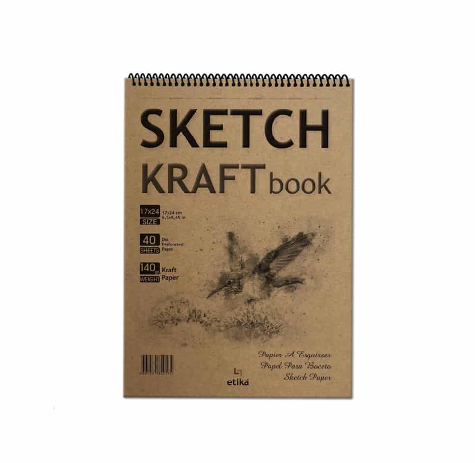 Sketch Kraft Eskiz Defteri 17*24 cm 40 Yaprak