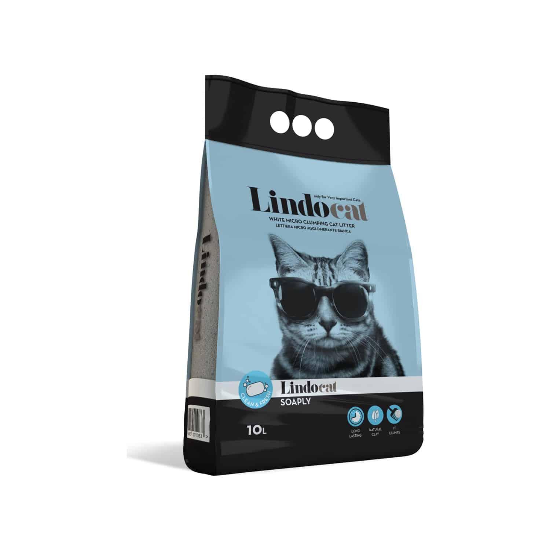 Lindo Cat Sabun Kokulu İnce Kedi Kumu 10 Litre Bentonitli