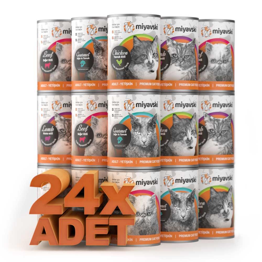 Miyavski Karışık Kedi Maması Paketi 24 adet – 1 koli