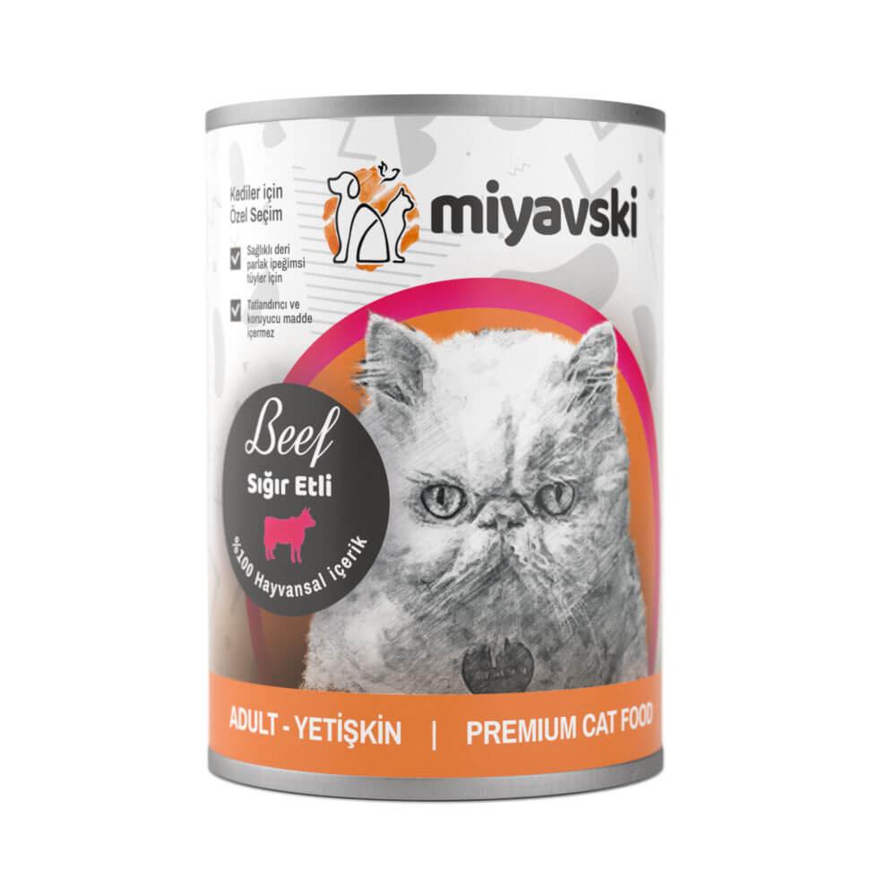 Miyavski Kuzu Etli Kedi Maması 1 adet 415 Gram