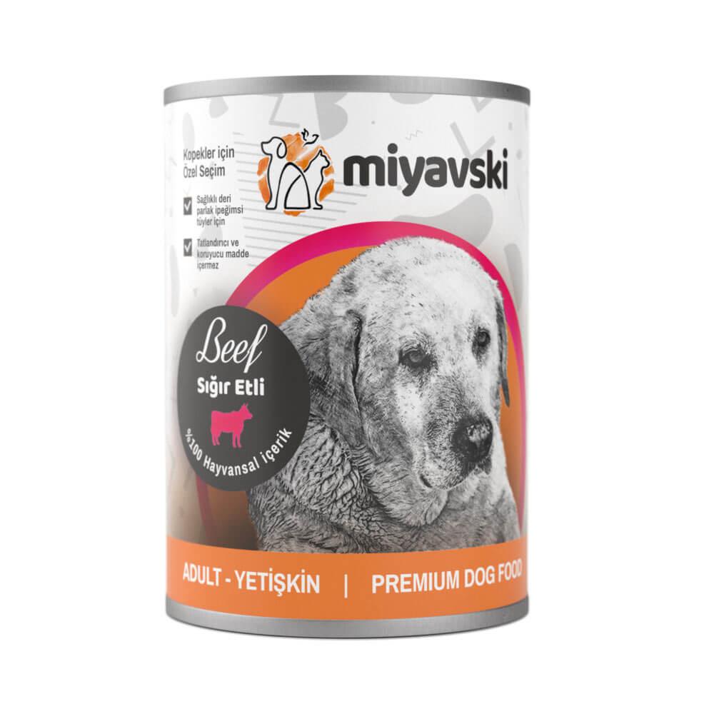 Miyavski Sığır Etli Köpek Maması 1 adet 415 Gram