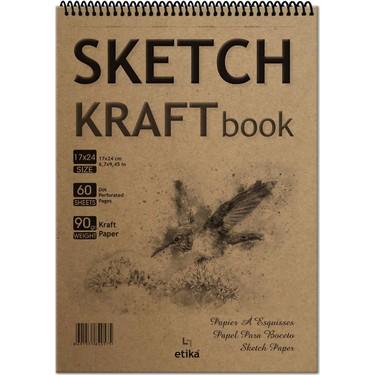 Sketch Kraft Eskiz Defteri 17*24 cm 60 Yaprak