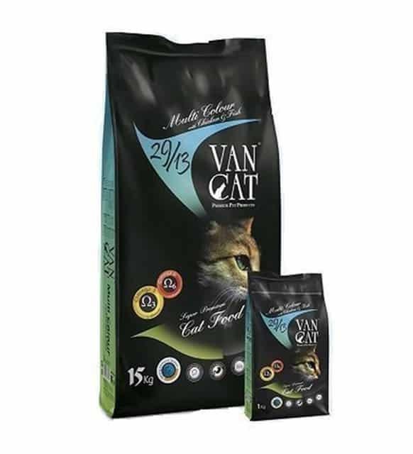 VanCat Multi Colour Tavuklu Balıklı Yetişkin Kedi Maması (Renkli Taneli) 15 Kg