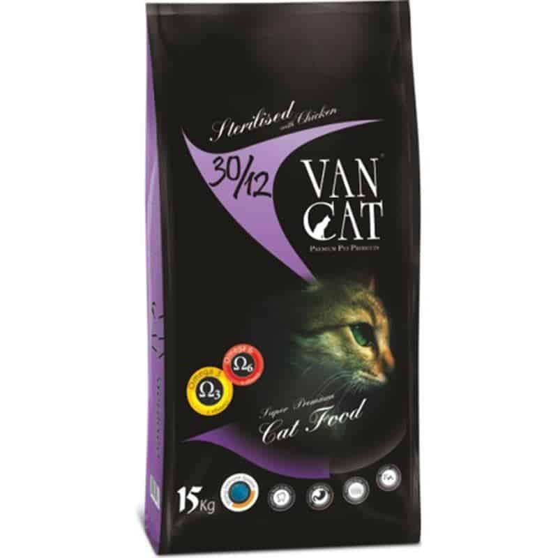 VanCat Sterilised Kısırlaştırılmış Tavuklu Yetişkin Kedi Maması 15 Kg