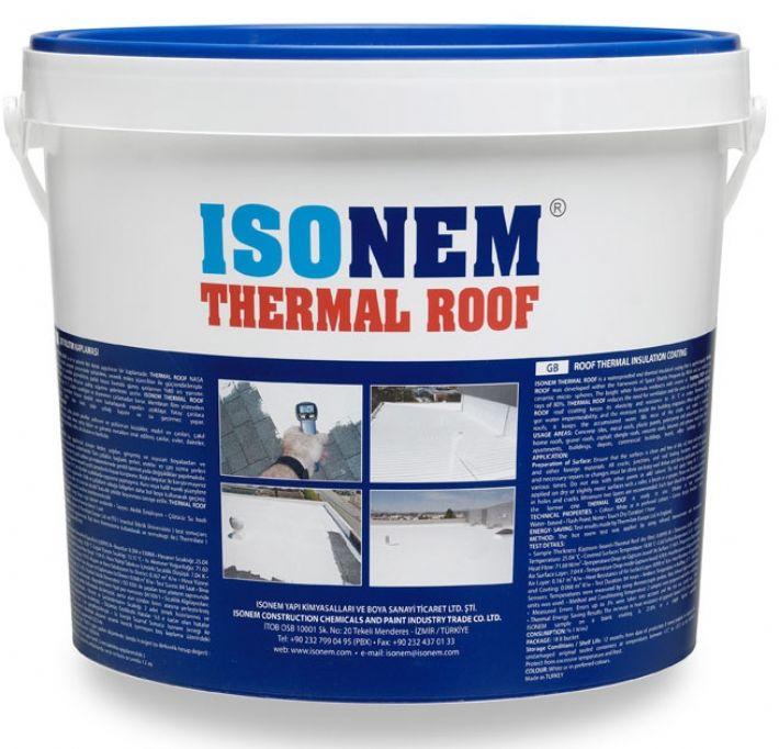 Isonem Thermal Roof 18 Kg Çatı Isı Ve Su Yalıtımı Beyaz