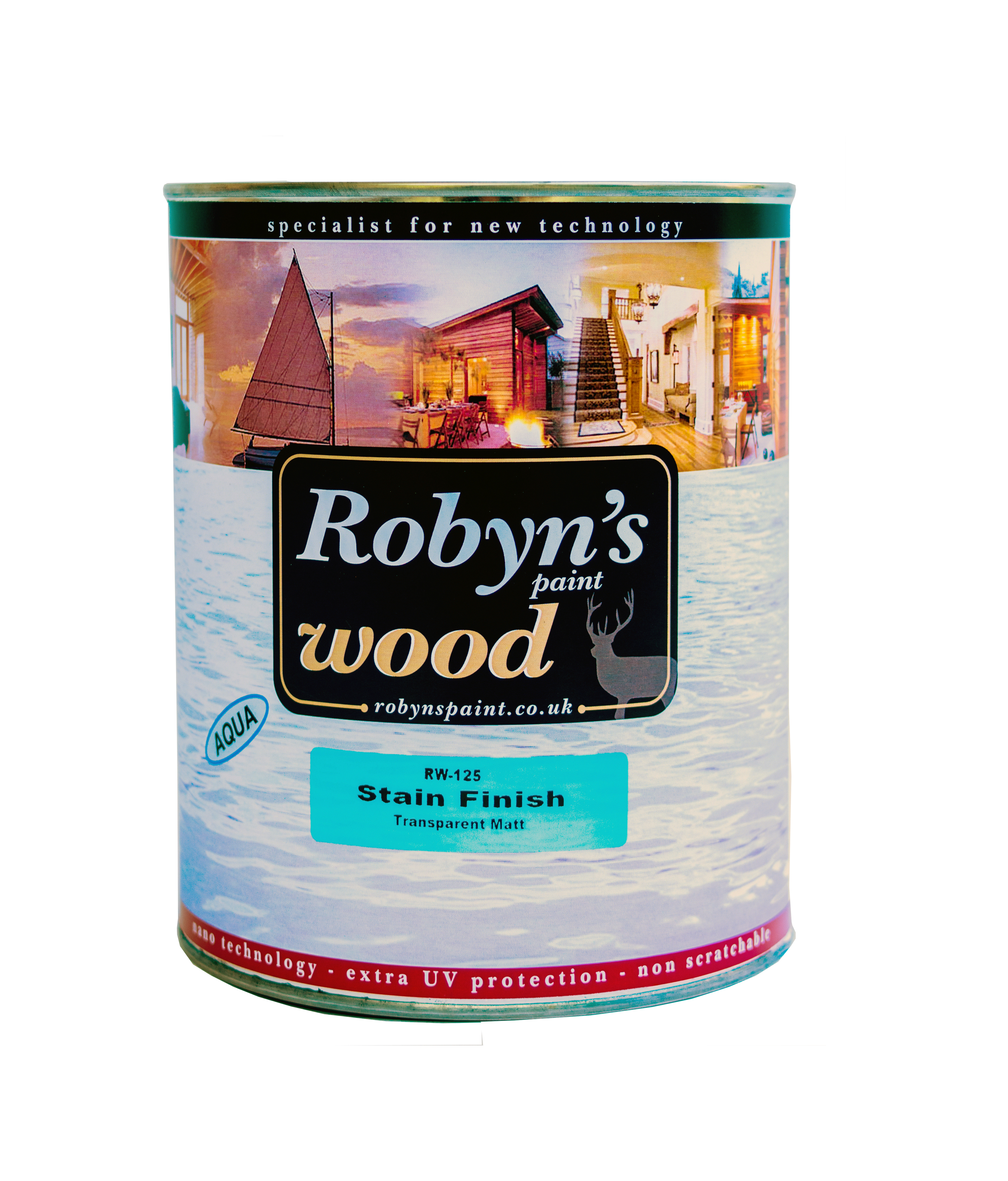 Robyn's Stain Finish Su Bazlı Ahşap Verniği 726 Chestnut 15lt