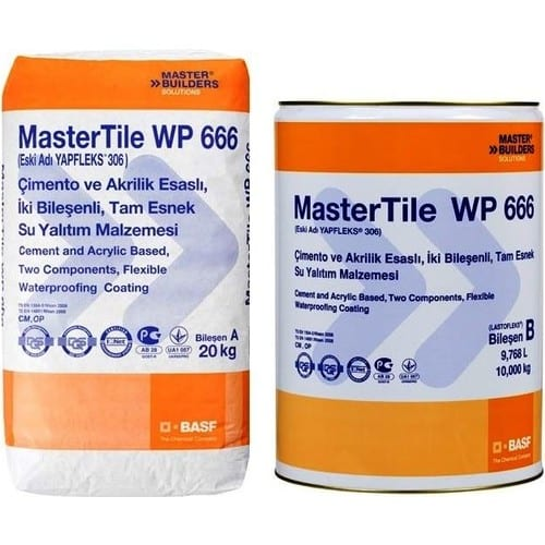 BASF Mastertile WP 666 (306) 20+10kg Tam Elastik Sürme İzolasyon