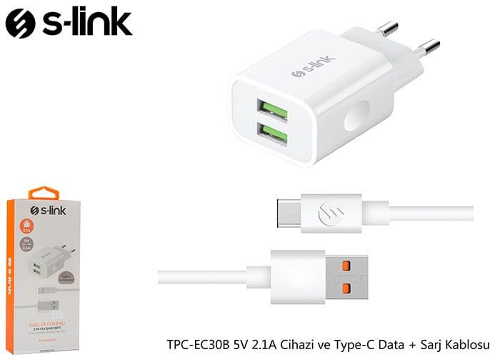 Slink Tpc-ec30b 2.1 A Type-C Şarj Seti